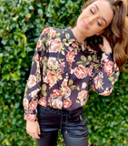Tea Party Blouse Black