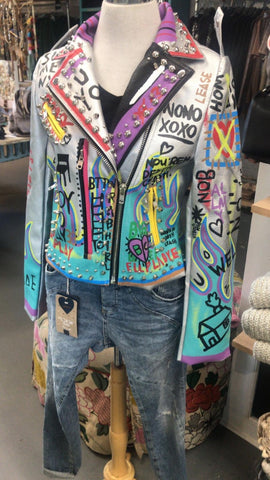 Graffiti Art Leather Jacket