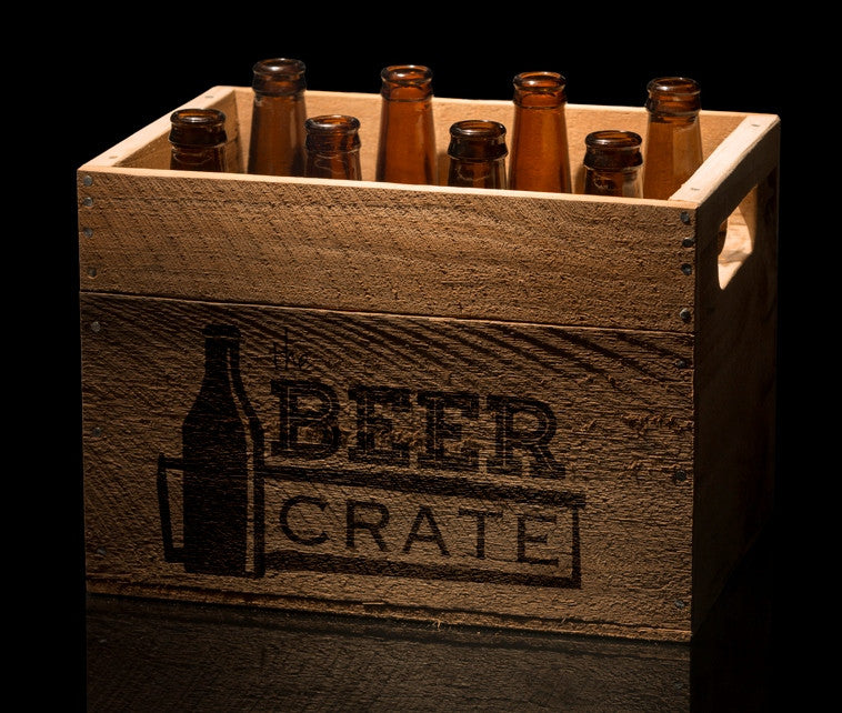 Crate of 8 craft beers