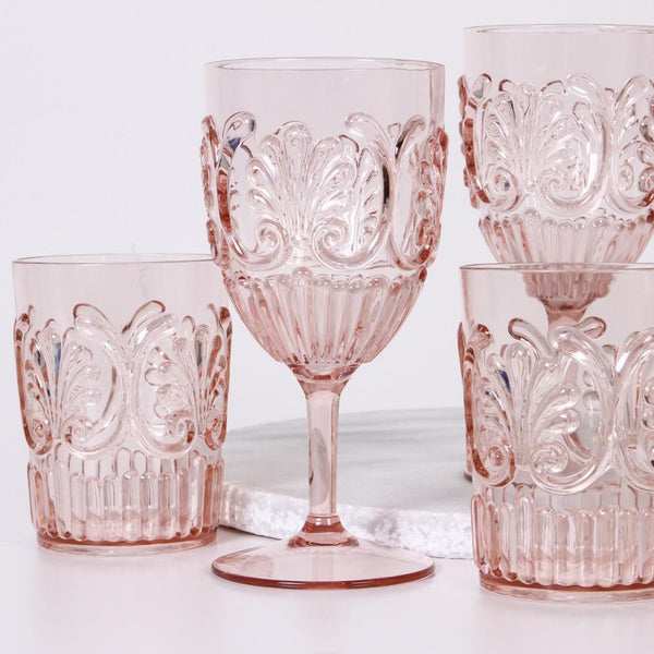 Acrylic Champagne Glass - Blush