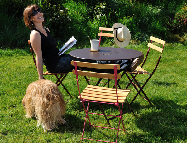 "FERMOB ""bistro"" folding natural chairs"