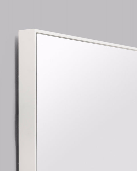 Flynn Rectangle Mirror, Bright White (100cm x 120cm)
