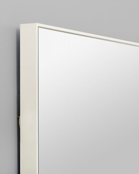 Flynn Rectangle Mirror, White (100cm x 120cm)