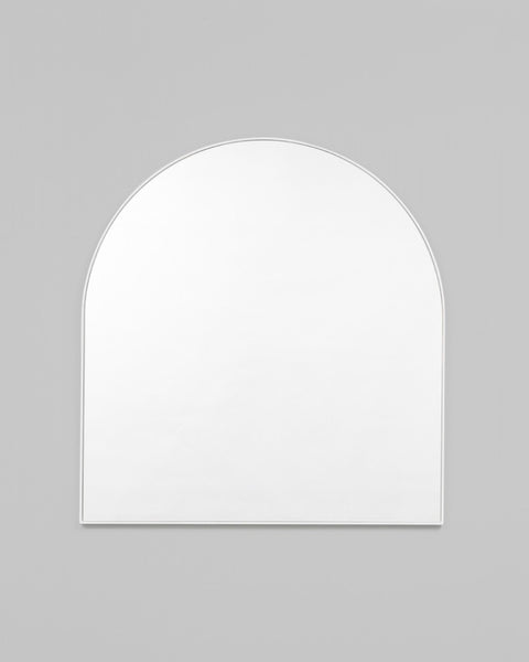 Bjorn Arch Mirror - 80cm x 85cm - Bright White