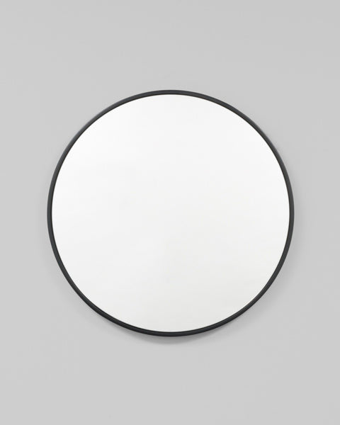 Bella Round Mirror - Black Gloss