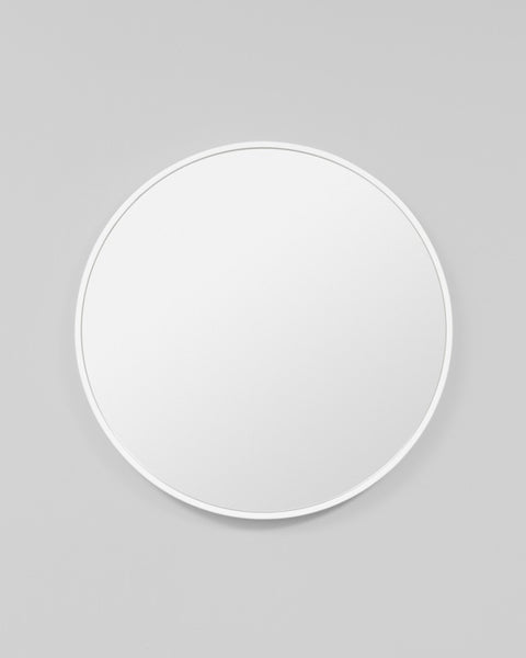 Bella Round Mirror - White Gloss
