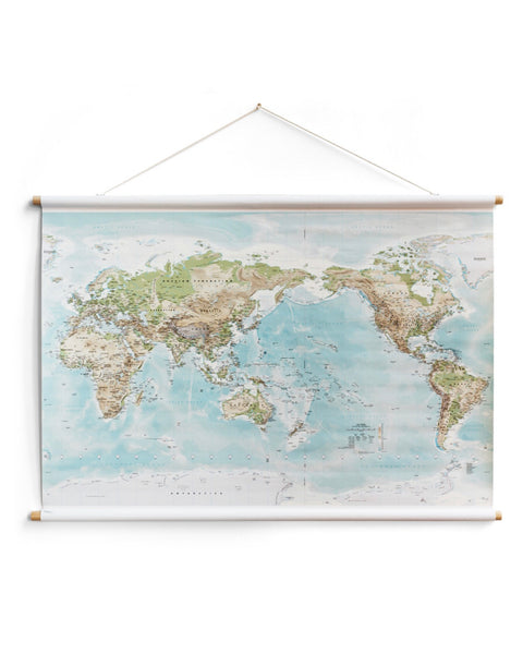 World Canvas Map - Large