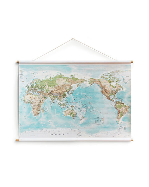 World Canvas Map - Medium