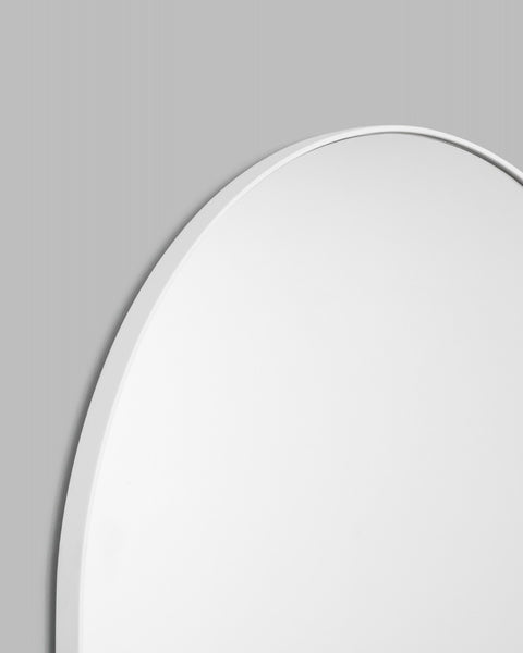Bjorn Arch Floor Mirror - 80cm x 180cm - Bright White
