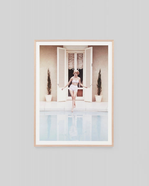 Poolside Reflection Print