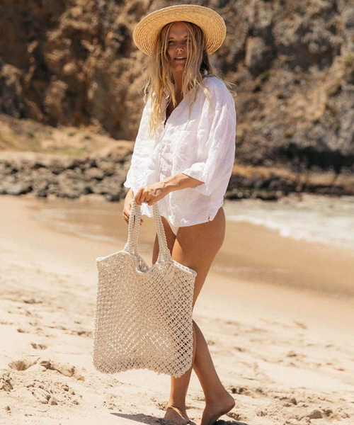 Macrame Tote Bag by The beach People