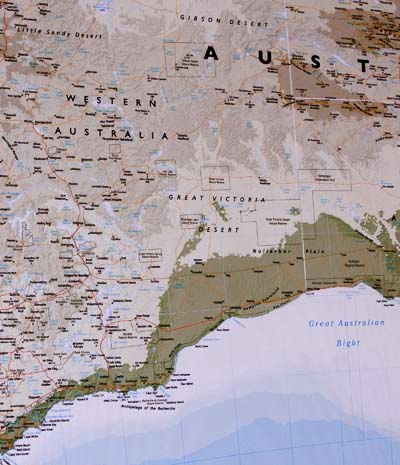 Australia Canvas Map