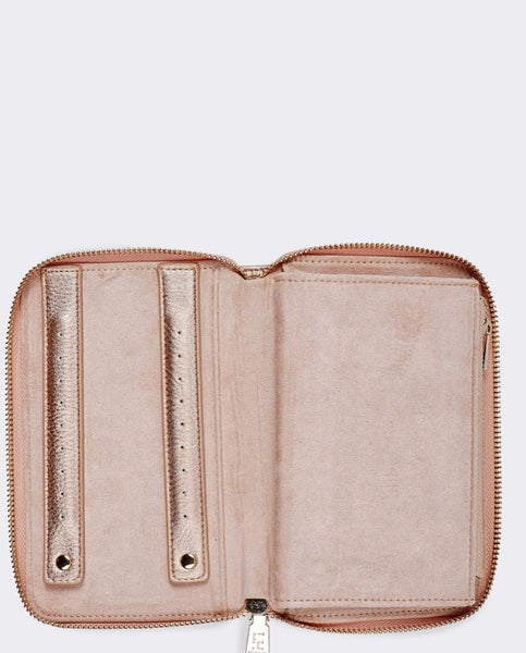 Lizzie Jewellery Case - Pink Champagne