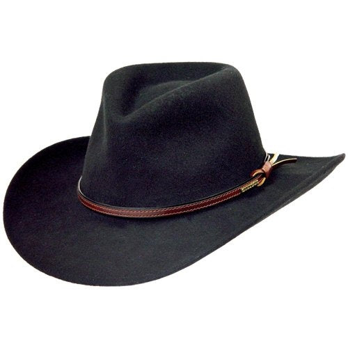 Stetson Bozeman Men s Crushable Wool Felt Hat (Black) Made in USA 82aed293042