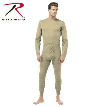 Men's Silkweight Base Layer Underwear Tops and Bottoms – 100% Polyester