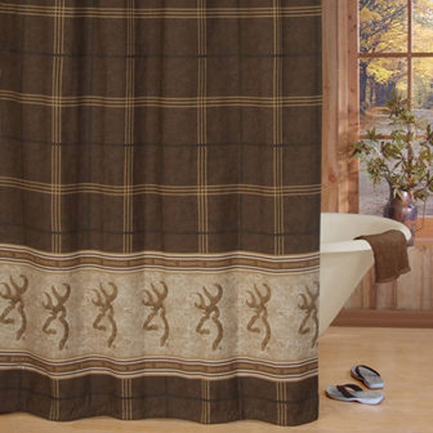 Browning Buckmark Towel And Shower Curtain Set