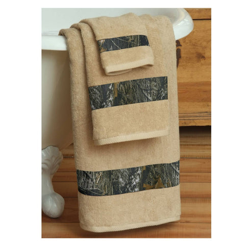 Mossy Oak New Break Up Towel And Shower Curtain Set