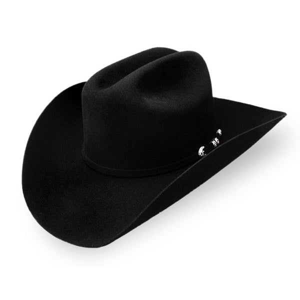 Stetson Resistol  Suede Eight  8X Western Rancher Hat for Men Black ... 9f92ea85129