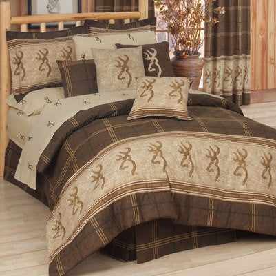 Browning Buckmark Comforter Bedding Set in a bag - Twin, Full, Queen, King, CA King