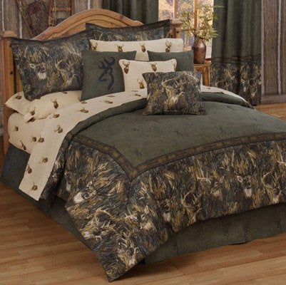 Browning Whitetails Comforter Bedding Set in a bag - Twin, Full, Queen, King