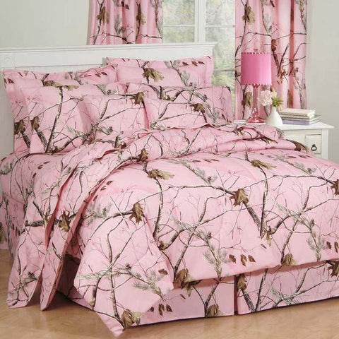 Realtree Pink Camo Comforter Bedding + Optional Matching Sheets - Queen Size