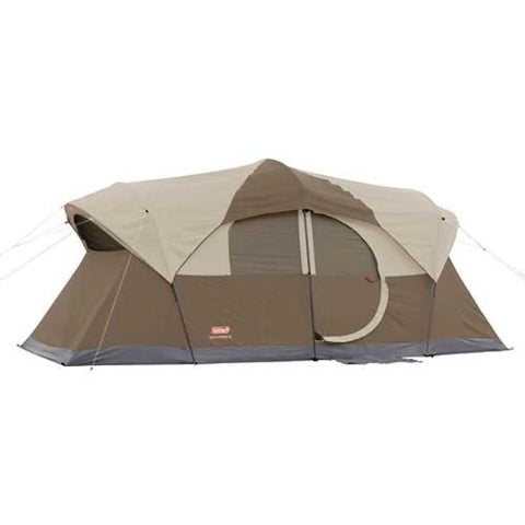 Coleman Big and Tall Weathermaster 10 Person Tent, Brown/Tan - 17 ft x 9 ft