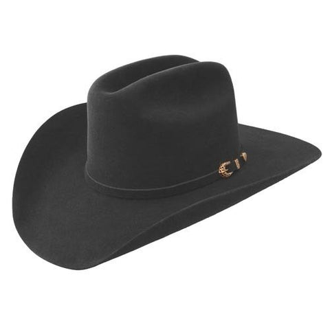 Stetson Shiner Shasta 10X Fur Felt Western Hat for Men, Black