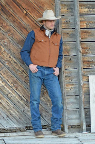 Wyoming Traders Cody Canvas Concealed Carry Vest for Men