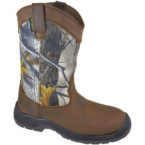 Smoky Mountain Men's Brushfield Camo EH Rated Wellington Work Boots