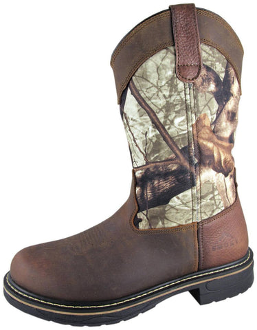 Smoky Mountain Men's Stag Camo EH Rated Wellington Work Boot