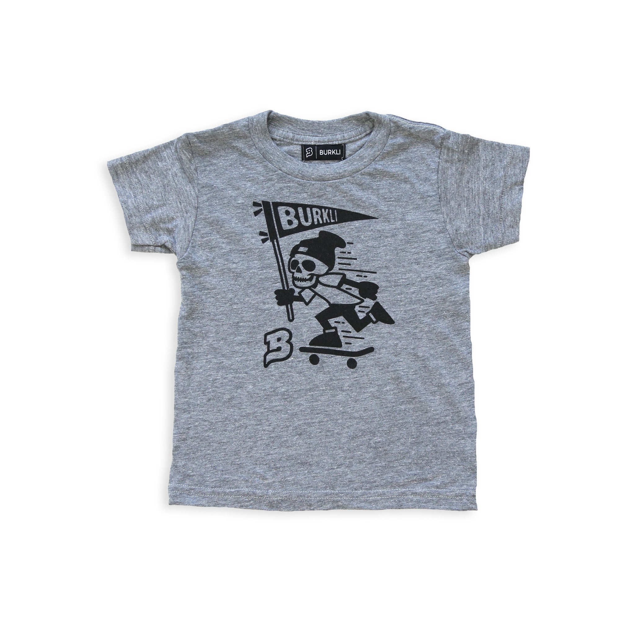 Skeleton Tee :: Heather Grey