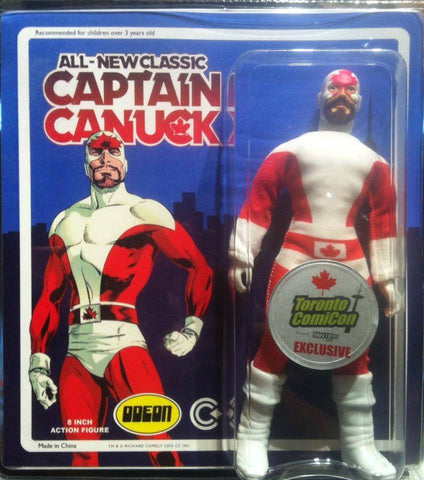 All New Classic Captain Canuck Mego Action Figure - Toronto Comicon Exclusive