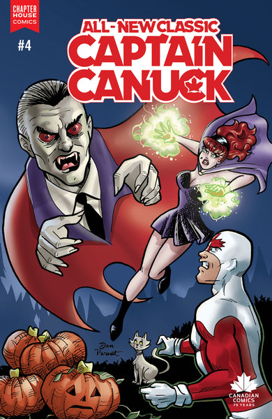 All New Classic Captain Canuck #4B (Die Kitty Die tie-in variant cover by Dan Parent)