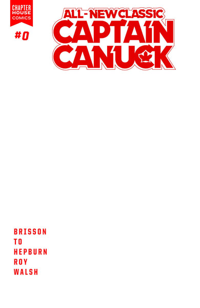All New Classic Captain Canuck #0 - Blank Sketch Cover