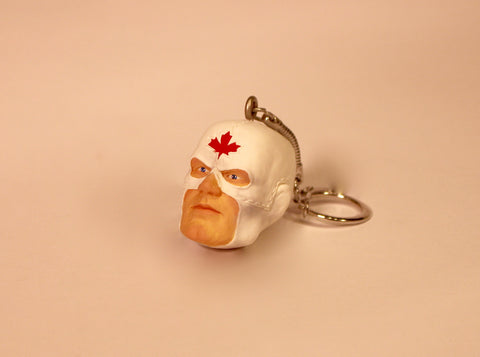 Captain Canuck Head shot Keychain