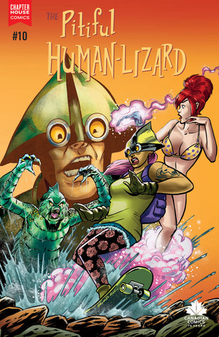 The Pitiful Human-Lizard #10 Cover C Die Kitty Die tie-in cover by Fernando Ruiz