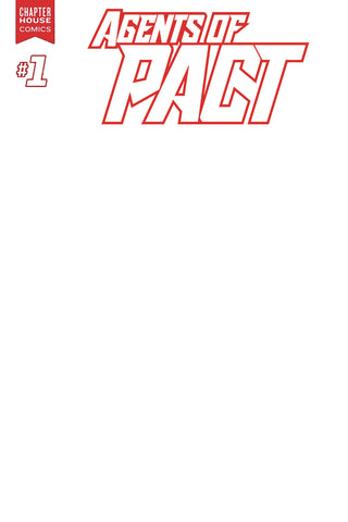 AGENTS OF P.A.C.T. #1 (Cover B— Blank Sketch Variant)