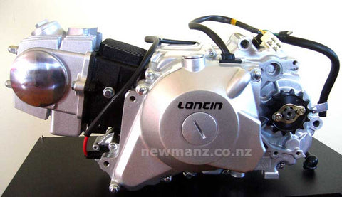 Loncin 110cc OHC engine (3 speed + reverse gear)