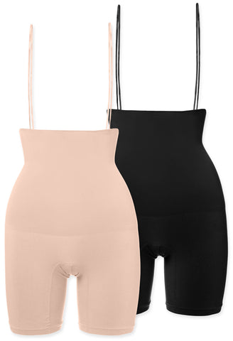 postpartum underbust shorts shapewear provides maximum compression on the entire tummy while lightly smoothing hips and thighs for a sleeker silhouette seamless construction is super comfy and minimises discomfort and bulges also available in ivory nude black tan chocolate