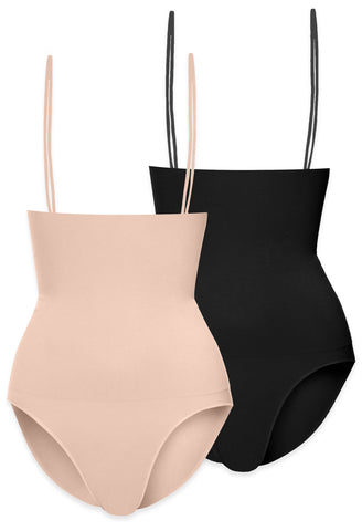 best shapewear for apple body shape in nude neutral colours stay up shaper has detachable and adjustable straps does not roll down in a comfortable brief leg finish save on your purchase with this value pack of two