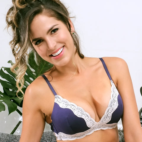 Cotton Lace Wirefree bra
