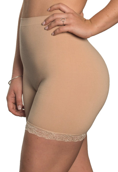 Cotton Anti-Chafing Midi Shorts (Nude)