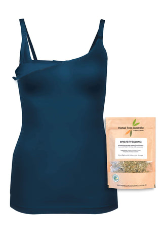 Bamboo Nursing Camisole with Built-In Bra - Fancy 3 Pack
