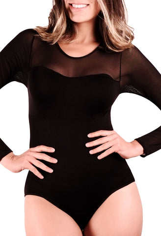 Black mesh bodysuit