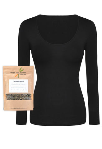 Bamboo Long Sleeve Top + Cholesterol Aid Tea Set