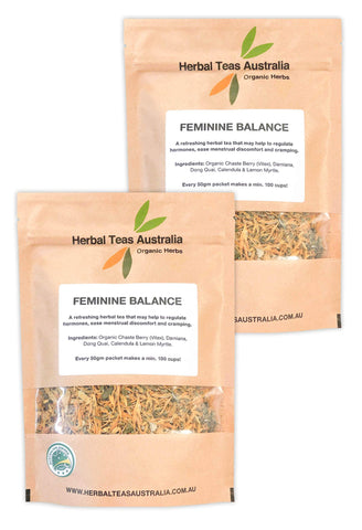 Organic Feminine Balance Herbal Tea 2 Pack - Makes 200 Cups