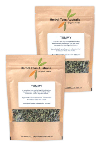 Organic Tummy Herbal Tea 2 Pack - Makes 200 Cups