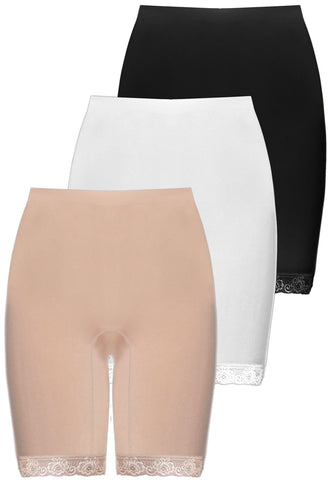 Anti-Chafing Cotton Shorts - Neutrals 3 Pack