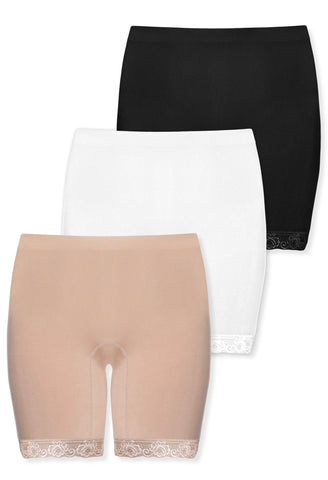 Anti Chafing High Rise Long Cotton Shorts