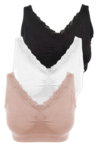 Bamboo Lace Nursing Camisole With Built In Bra